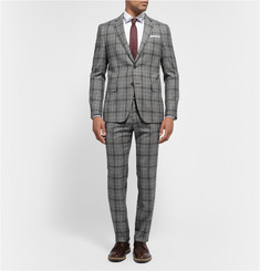 Etro Slim-Fit Check Wool Suit