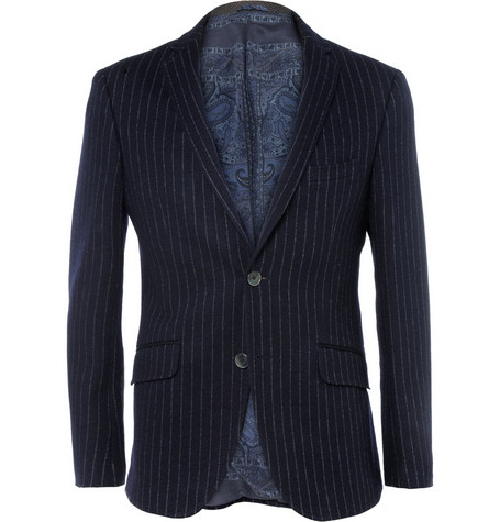 Etro Slim-Fit Cotton and Wool-Blend Blazer