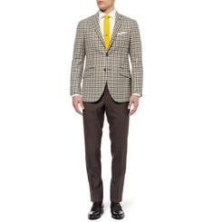 Etro Slim-Fit Check Wool Blazer