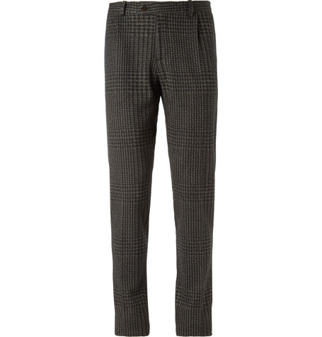 Etro Slim-Fit Patterned Woven-Wool Trousers