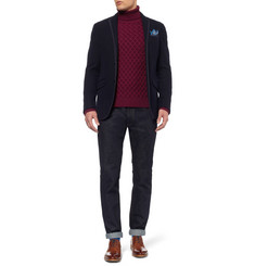 Etro Cable-Knit Rollneck Wool Sweater