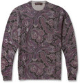 Etro - Printed Wool Crew Neck Sweater