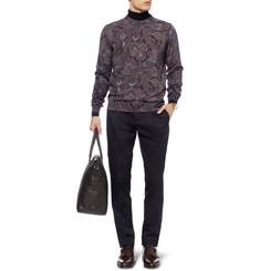 Etro Printed Wool Crew Neck Sweater