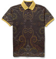 Etro - Printed Cotton-Piqué Polo Shirt