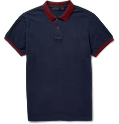 Etro Contrast-Trim Cotton-Piqué Polo Shirt