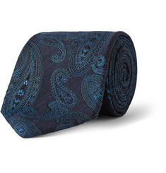 Etro Silk and Wool-Blend Jacquard Tie