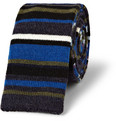 Etro Striped Knitted Wool Tie