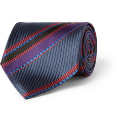 Etro Striped Silk Tie