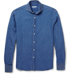 Michael Bastian Spread-Collar Linen and Cotton-Blend Shirt