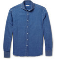 Michael Bastian - Spread-Collar Linen and Cotton-Blend Shirt