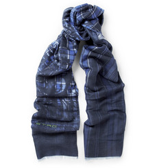 Etro Woven Wool and Modal-Blend Scarf