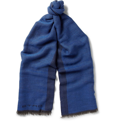Etro Double-Faced Wool and Cashmere-Blend Scarf