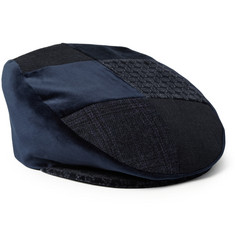 Etro Patchwork Velvet and Cotton-Blend Flat Cap