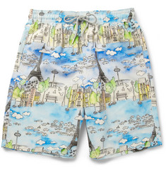 Vilebrequin Okoa Long-Length Paris-Print Swim Shorts