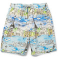 Vilebrequin - Okoa Long-Length Paris-Print Swim Shorts