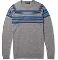 John Smedley Gig Striped Merino Wool Sweater