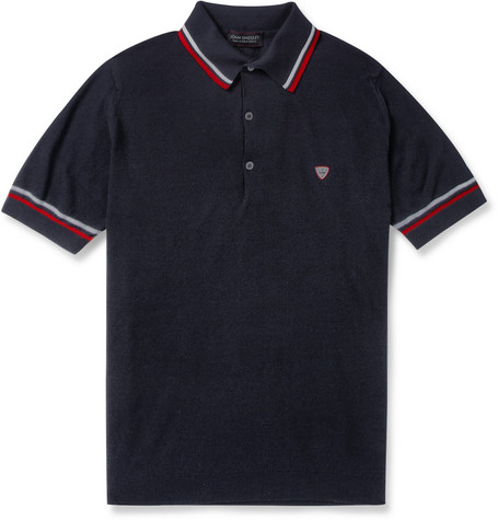 John Smedley McIlroy Fine-Knit Sea Island Cotton Polo Shirt