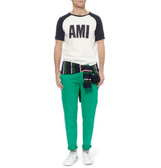 AMI Printed Cotton-Jersey T-Shirt