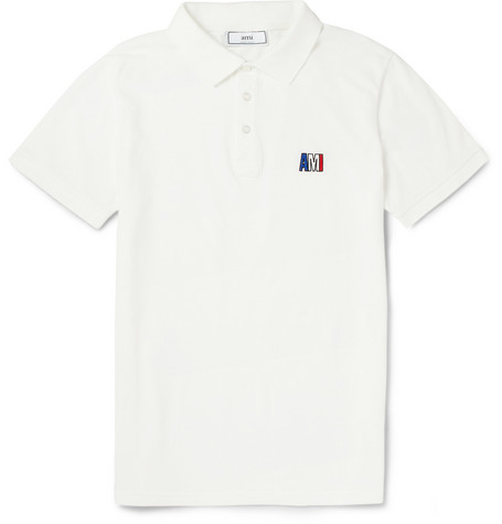 AMI Cotton-Pique Polo Shirt