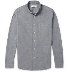 AMI Slim-Fit Gingham Check Cotton Shirt