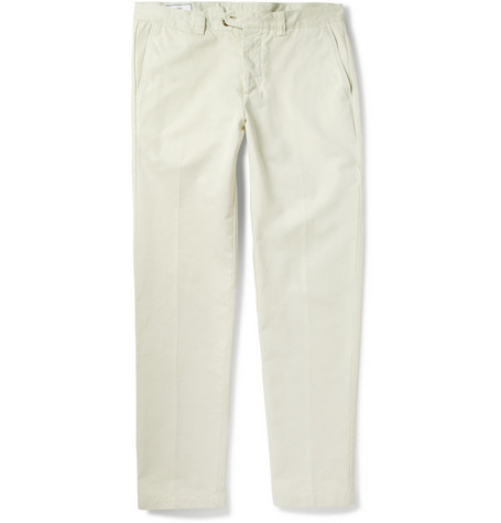 AMI Tapered Cotton-Twill Chinos