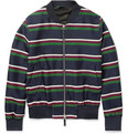 AMI - Striped Wool and Cotton-Blend Bomber Jacket