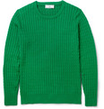 AMI Cable Knit Cotton Sweater