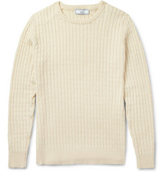 AMI Cable-Knit Cotton Sweater