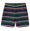 AMI - Striped Wool and Cotton-Blend Shorts