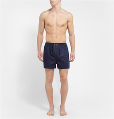 Derek Rose Lombard Patterned Woven-Cotton Boxer Shorts