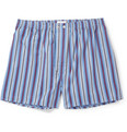 Derek Rose - Mayfair Striped Cotton Boxer Shorts