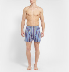 Derek Rose Mayfair Striped Cotton Boxer Shorts