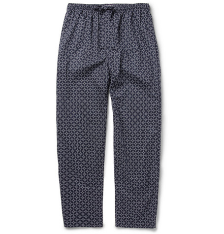 Derek Rose Arlo Printed Cotton Pyjama Trousers