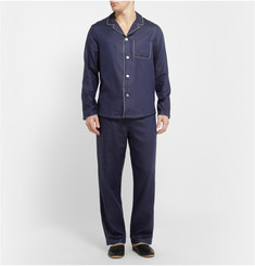 Derek Rose Lombard Jacquard Cotton Pyjama Set