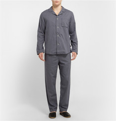 Derek Rose Ezra Plaid Cotton Pyjama Set