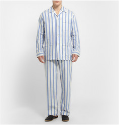 Derek Rose Striped Cotton Pyjama Set