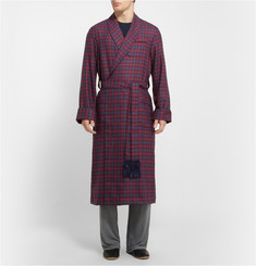 Derek Rose York Plaid Wool Dressing Gown