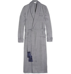 Derek Rose Lincoln Herringbone Wool Dressing Gown