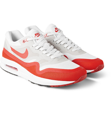 Nike Air Max Lunar1 Mesh and Rubber Sneakers