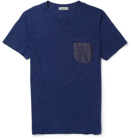 Oliver Spencer Contrast-Pocket Cotton-Jersey T-Shirt