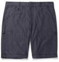Oliver Spencer - Cotton-Jacquard Cargo Shorts