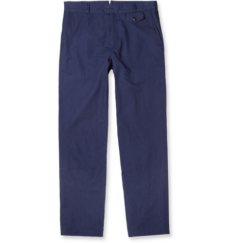 Oliver Spencer Dobby Cotton Trousers