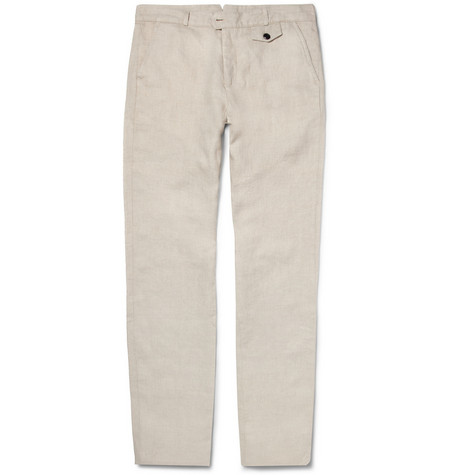 Oliver Spencer Regular-Fit Lightweight Linen and Cotton-Blend Trousers