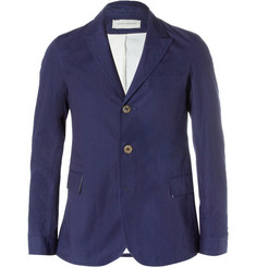 Oliver Spencer Bampton Unstructured Dobby-Cotton Blazer