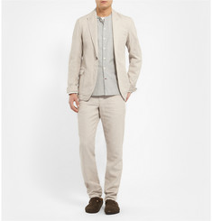 Oliver Spencer Bampton Slim-Fit Unstructured Linen and Cotton-Blend Blazer