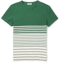 Oliver Spencer Striped Cotton-Piqué T-Shirt