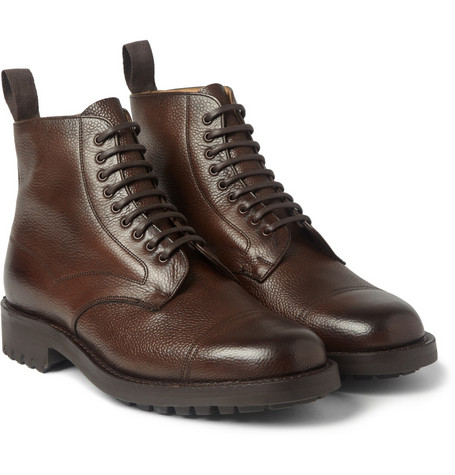 Cheaney Pennine Pebble-Grain Leather Boots