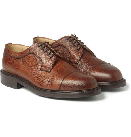 Cheaney Tenterden Pebble-Grain Leather Derby Shoes