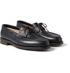 John Lobb Livonia Full-Grain Leather Boat Shoes