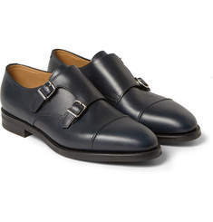 John Lobb William II Full-Grain Leather Monk-Strap Leather Shoes
